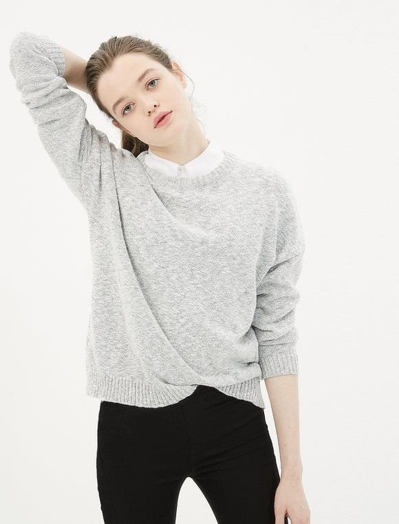 5011107 Grey Crew Neck Jumper