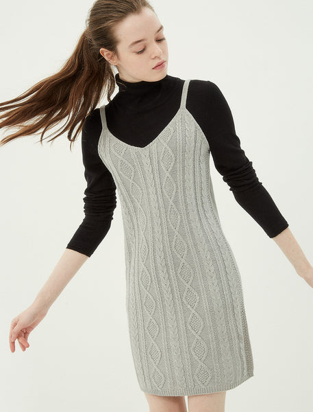 1212053 Grey Sweater Dress