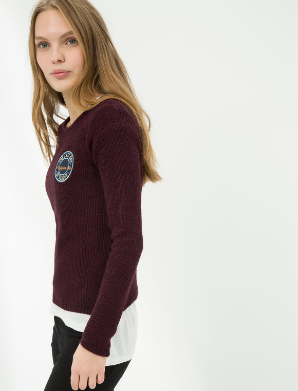 5011234 Wine Knitted Jumper