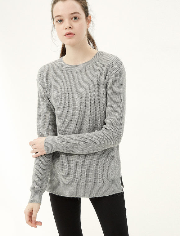 5011087 Grey Crew Neck Jumper
