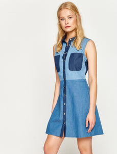 1212059 Indigo Shirt Dress