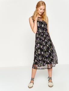 4512008 Black Patterned Dress