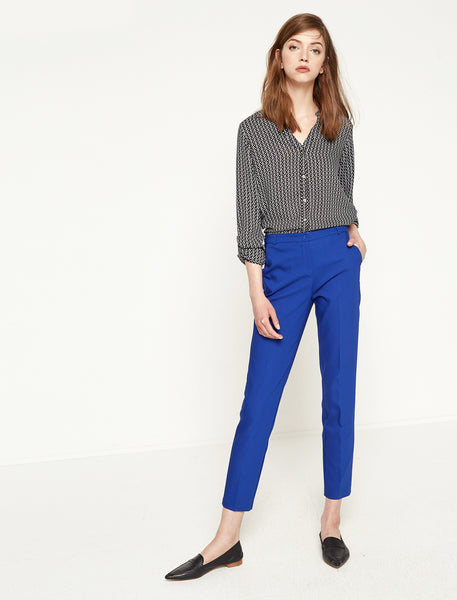 2942038 Blue Slim Fit Straight Leg Pants