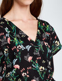 5210012 Black-Green Floral Jumpsuit