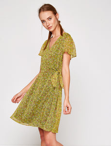 4512052 Yellow Floral Dress