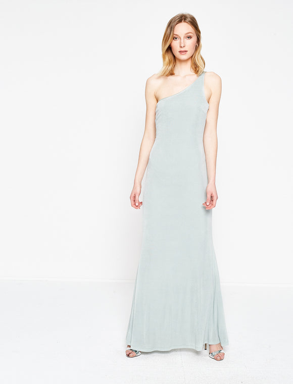 1312006 Mint One Shoulder Maxi Dress