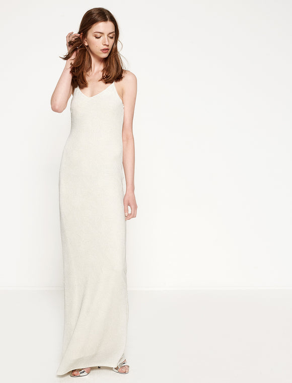 1312009 White-Cream Slip Maxi Dress