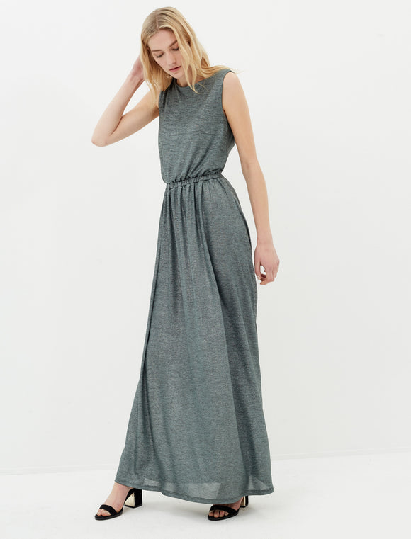 1312004 Green Open Back Maxi Dress