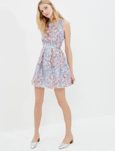 1212032 Blue Floral Mini Dress