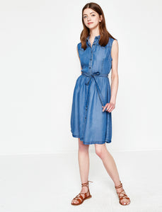 1212030 Blue Denim Shirt Dress