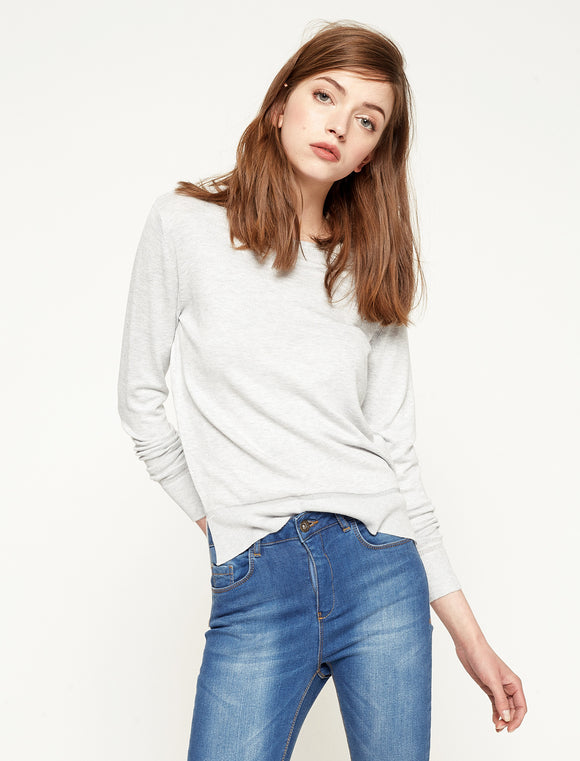 5011094 Grey Crew Neck Jumper