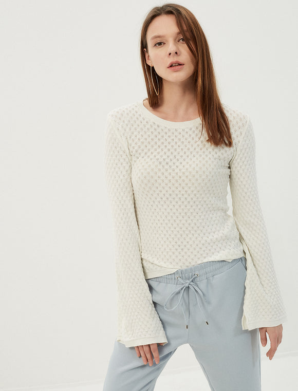 5011399 White Patterned Jumper