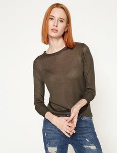 5011123 Khaki Crew Neck Jumper