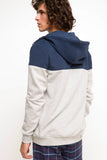 5112060 Grey-Blue Hooded Sweater