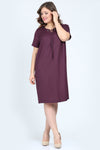 7400254 Purple Shift Dress