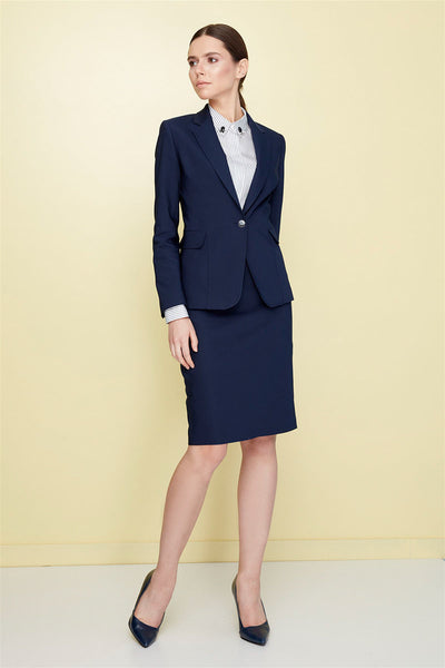 4688018 Dark Blue Classic Pencil Skirt