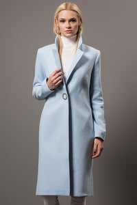 3550195 Blue Single Button Coat
