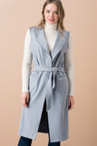 3510267 Blue Sleeveless Long Jacket