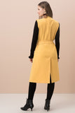 3510277 Yellow Sleeveless Long Jacket