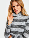5011198 Grey Polo Neck Jumper