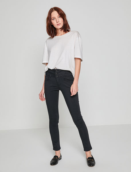 2942045 Black High Waist Slim Pants