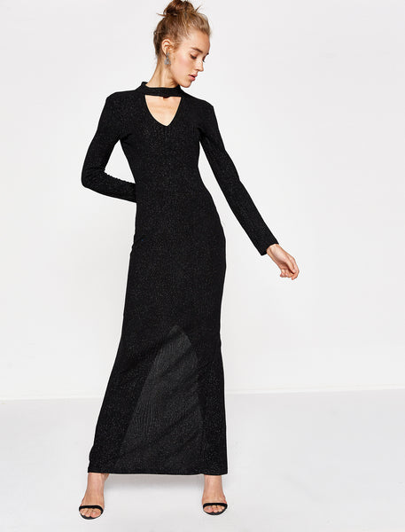 1312021 Black Long Dress