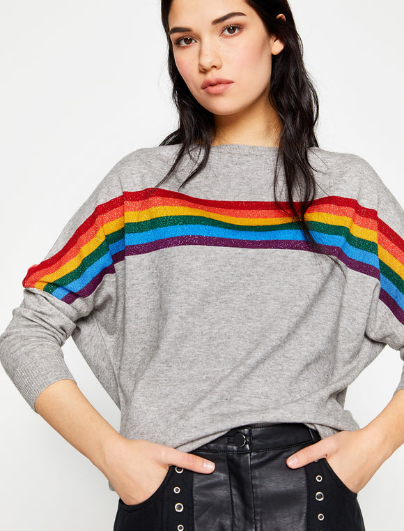 5011005 Grey Rainbow Printed Jumper