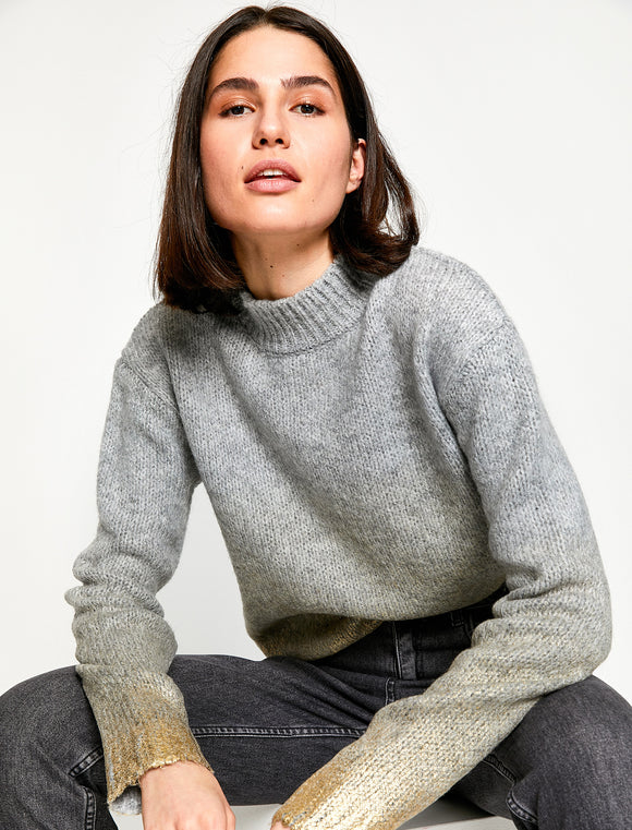 5011274 Grey-Gold Knitted Jumper