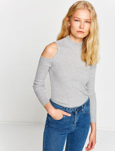 5011015 Grey Open Shoulder Jumper