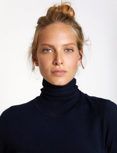 5011218 Navy Turtle Neck Jumper