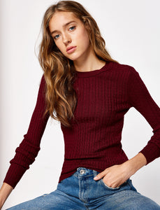 5011252 Wine Knitted Jumper