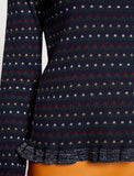5011206 Navy Patterned Jumper