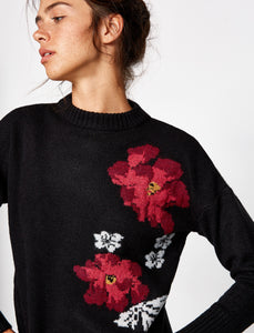 5011167 Black Floral Jumper