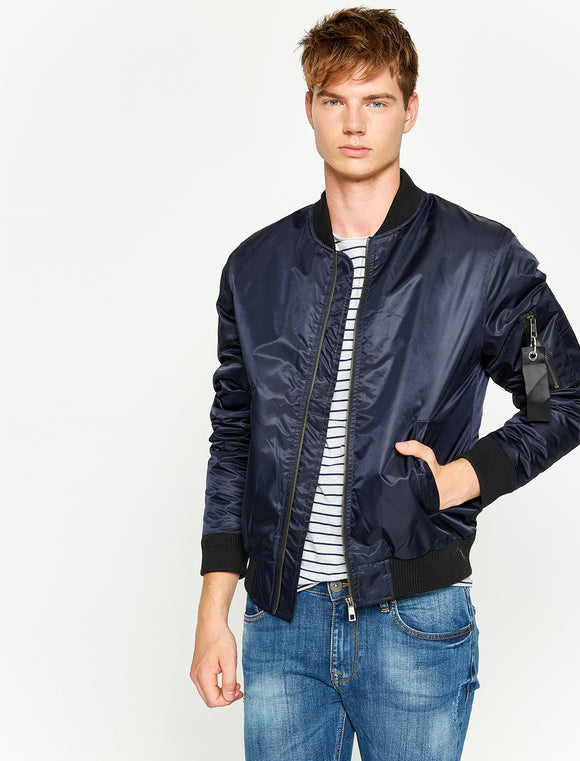 2010076 Navy Blue Bomber Jacket