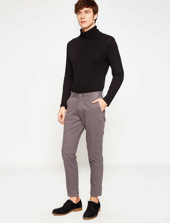 3110191 Medium Rise Chino Trousers