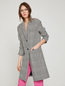 3530232 Grey-Black Check Coat