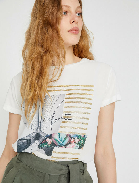 Patterned T-Shirt White