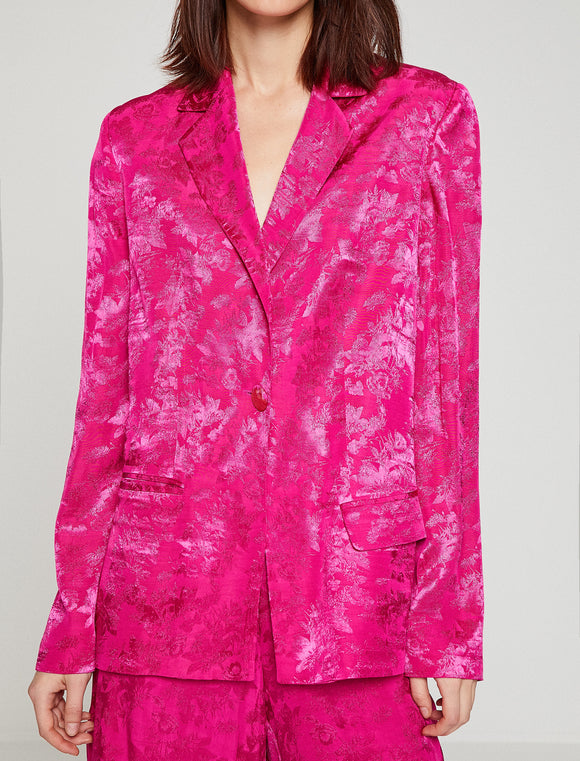 3540105 Fuschia Patterned Jacket