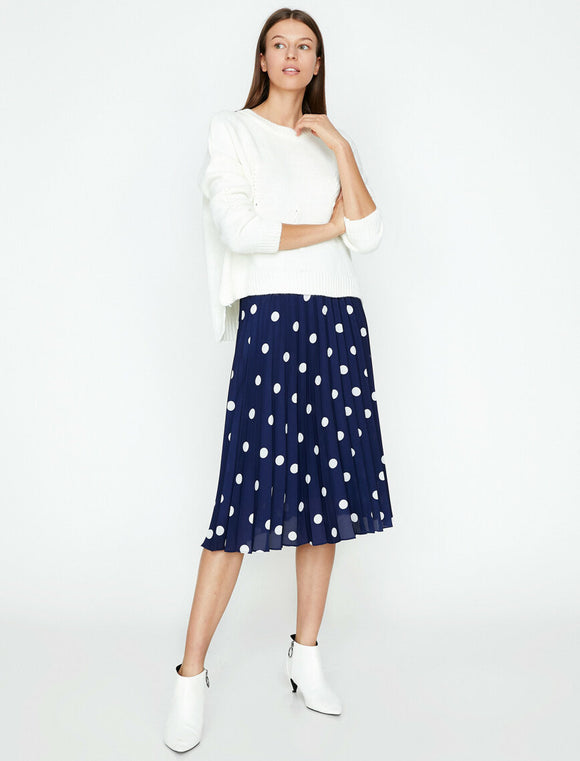 Dotted Skirt Navy