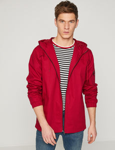 2010016 Red Hooded Jacket