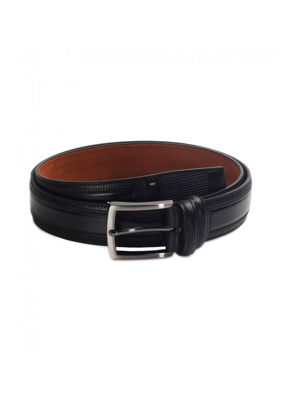 1Tobie Black Leather Belt 43038-514