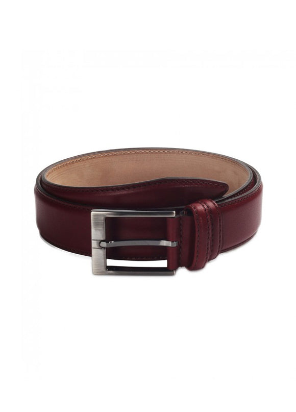 1Schwartz Burgundy Leather Belt 43038-711