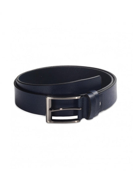 1Plain Leather Sport Belt Navy 43038-601