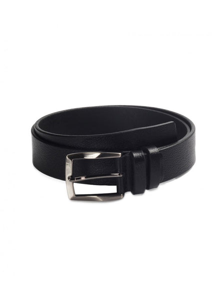 1Plain Leather Sport Belt Black 43038-700