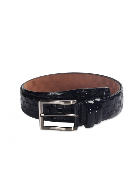 1Franco Patent Leather Men's Belt Navy 43038-931
