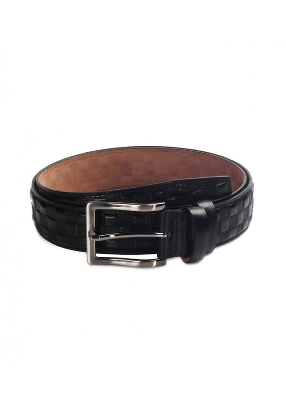 1Quilted Leather Belt Black 43038-282