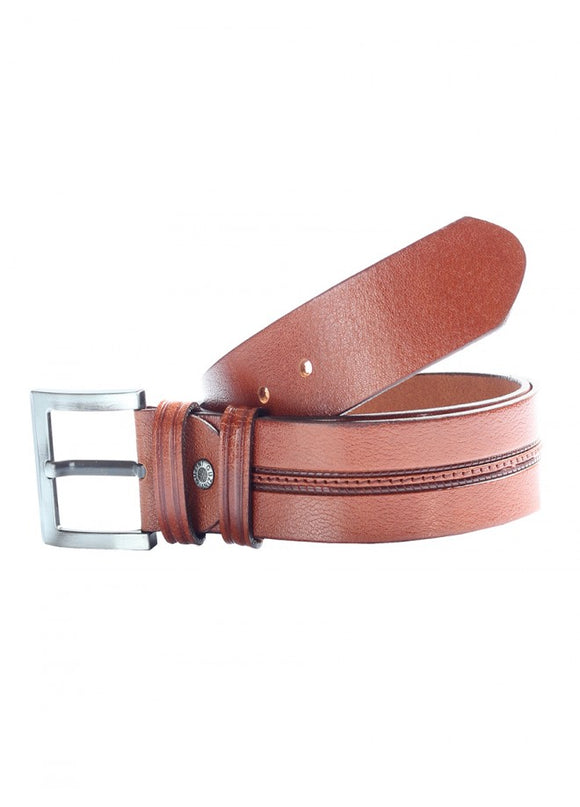 1Stitches Male Leather Belt Taba 43038-477