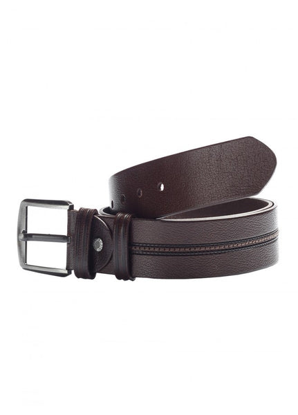 1Men's Leather Belt Brown Stitches 43038-417