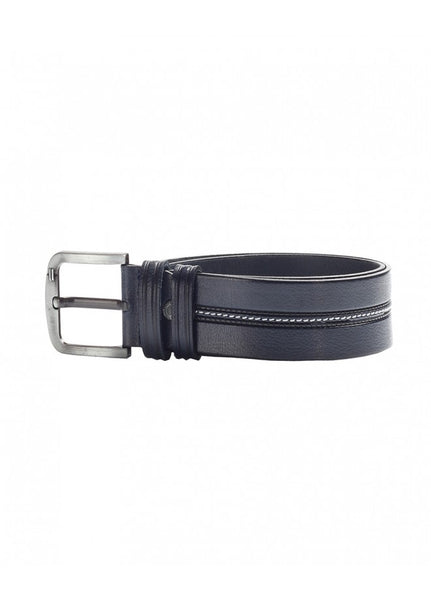 1Men's Leather Belt Black Stitches 43038-134
