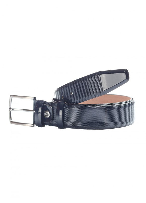 1Sleto Patent Leather Belt Navy 43038-697